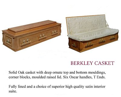 Berkley solid oak coffin